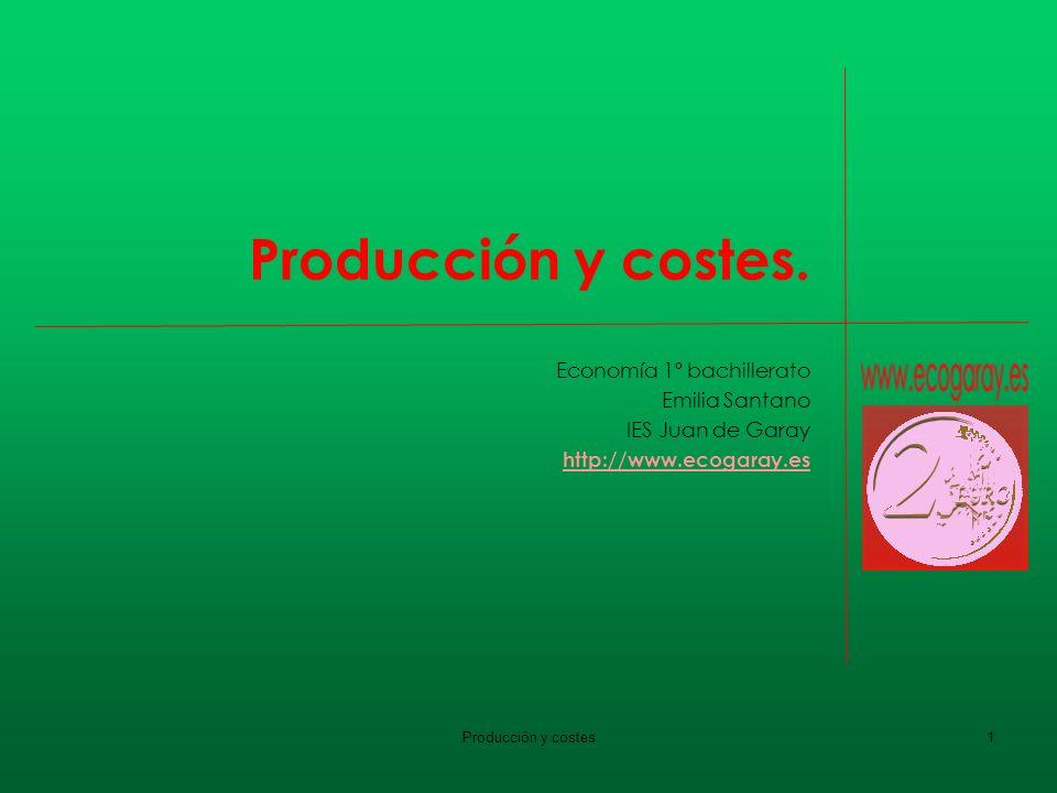 Producción y costes. Economía 1º bachillerato Emilia Santano