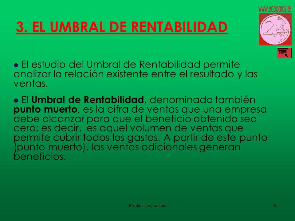 3. EL UMBRAL DE RENTABILIDAD