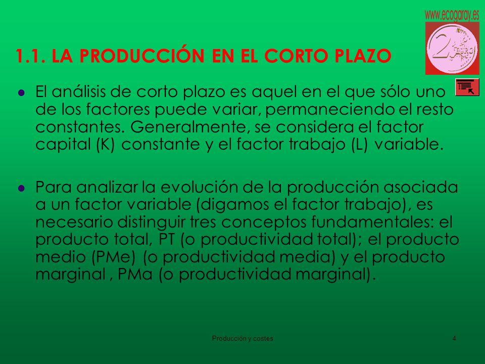 1.1. LA PRODUCCIÓN EN EL CORTO PLAZO