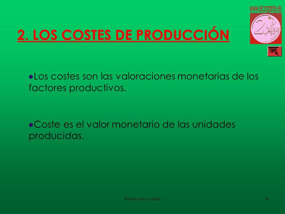 2. LOS COSTES DE PRODUCCIÓN