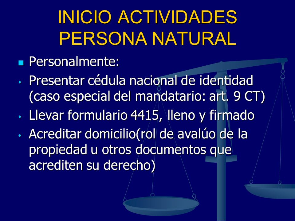 INICIO ACTIVIDADES PERSONA NATURAL