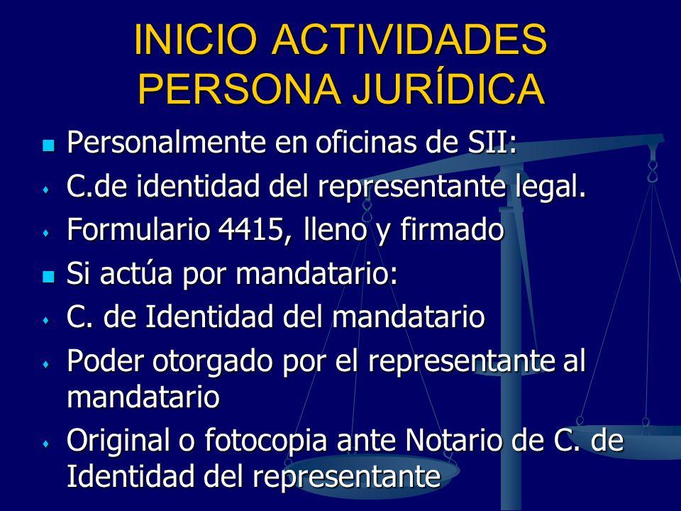 INICIO ACTIVIDADES PERSONA JURÍDICA