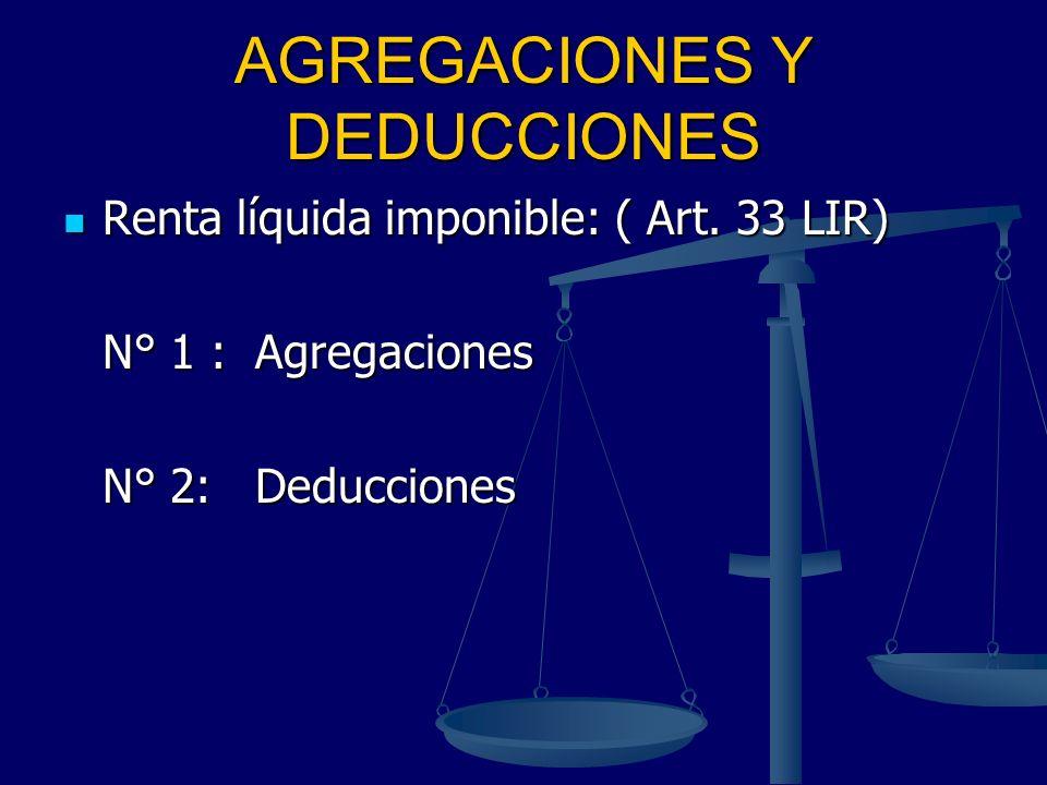 AGREGACIONES Y DEDUCCIONES