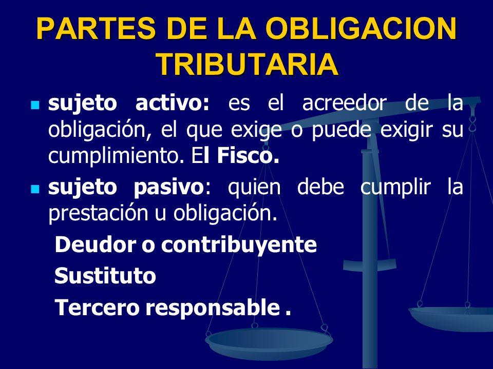 PARTES DE LA OBLIGACION TRIBUTARIA