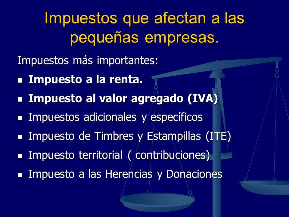Impuestos que afectan a las pequeñas empresas.