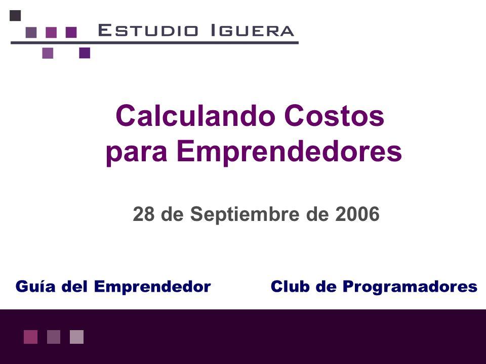 Calculando Costos para Emprendedores