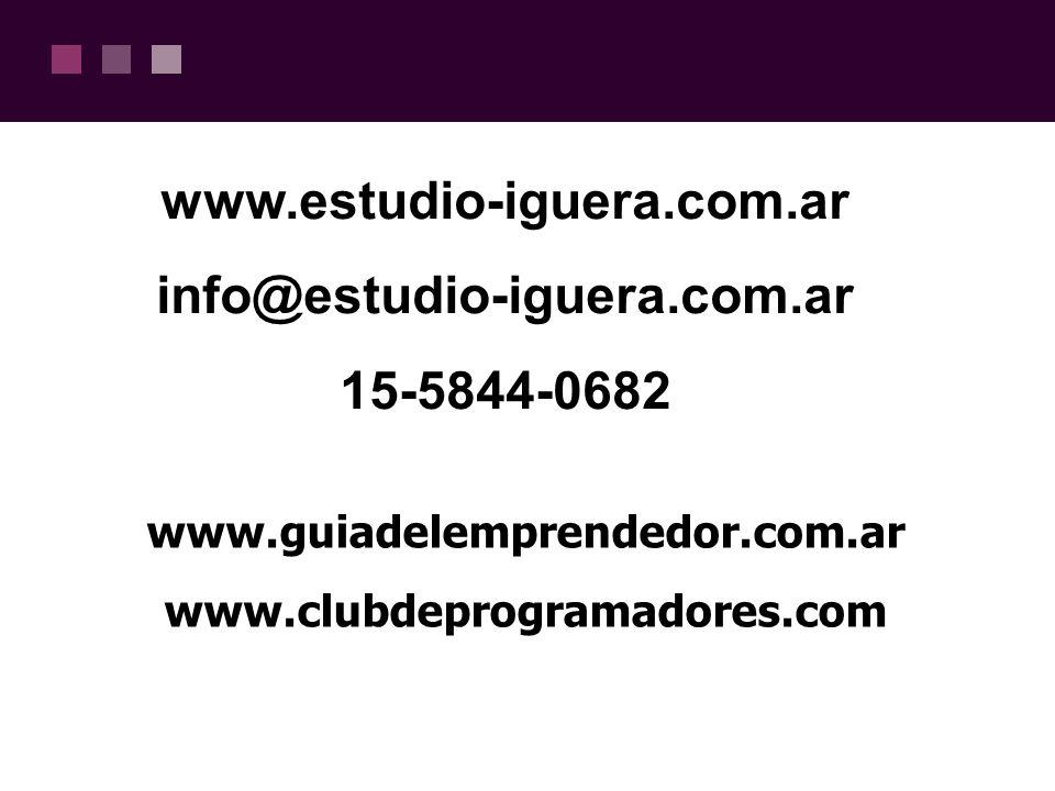 www.estudio-iguera.com.ar info@estudio-iguera.com.ar 15-5844-0682