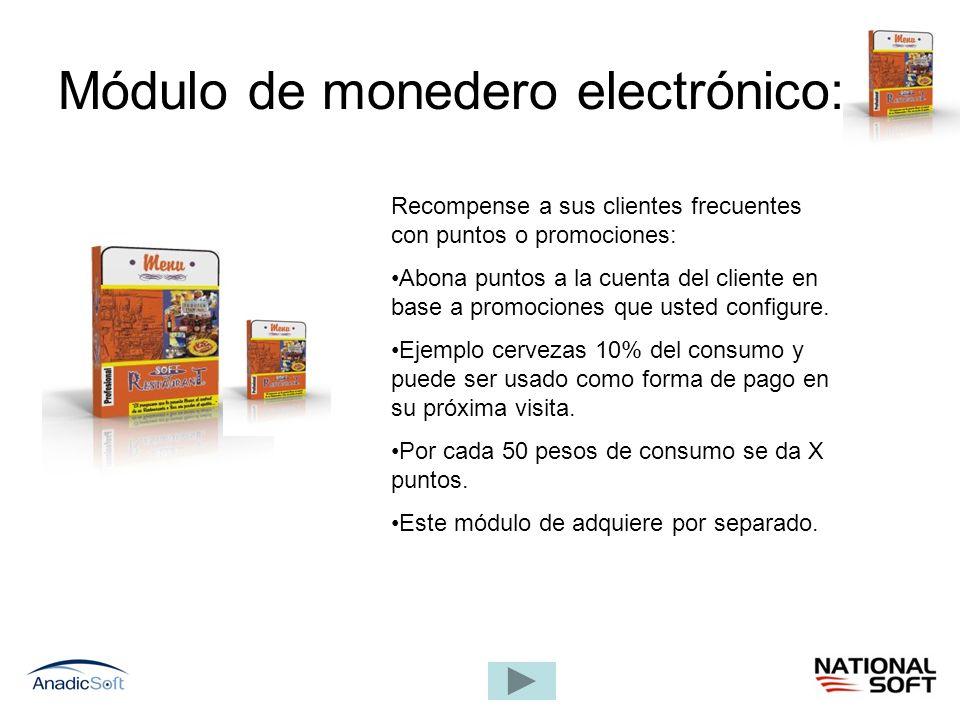 Módulo de monedero electrónico: