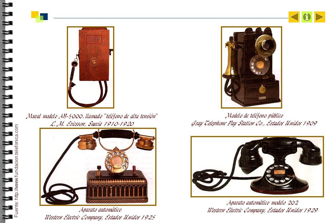 Aparato automático Western Electric Company, Estados Unidos 1925