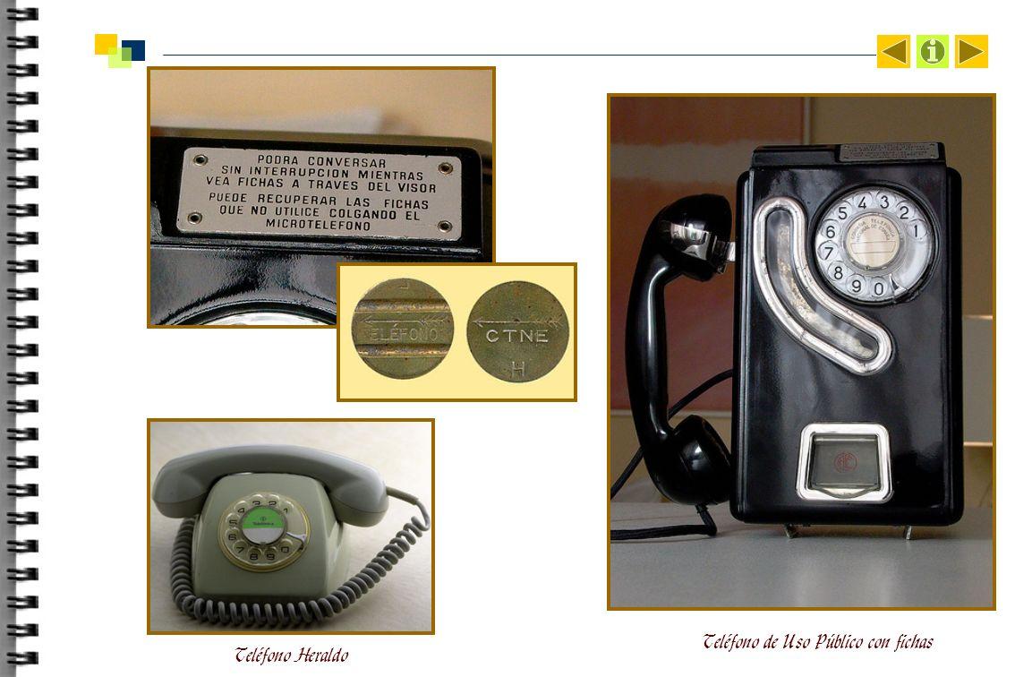 Teléfono de Uso Público con fichas