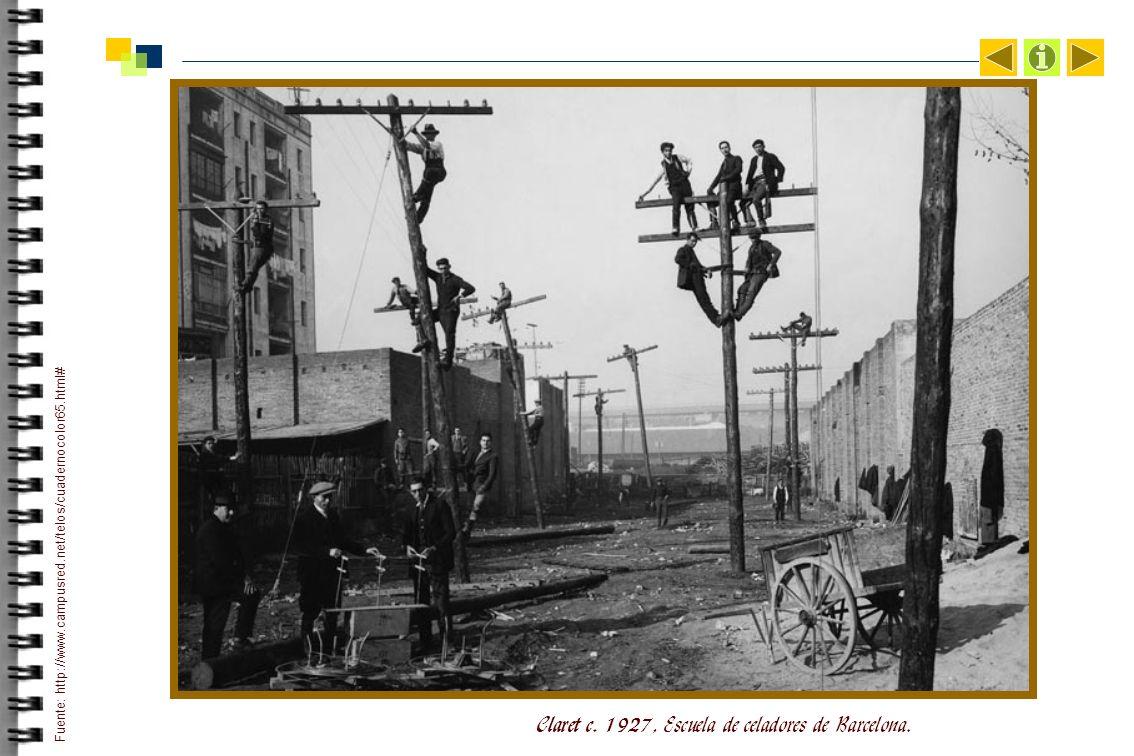 Claret c. 1927, Escuela de celadores de Barcelona.