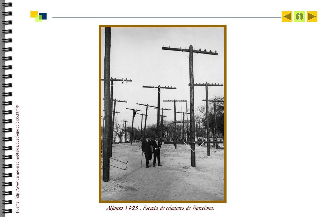 Alfonso 1925 , Escuela de celadores de Barcelona.