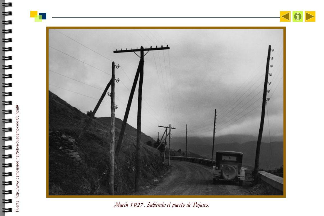 Marín 1927, Subiendo el puerto de Pajares.