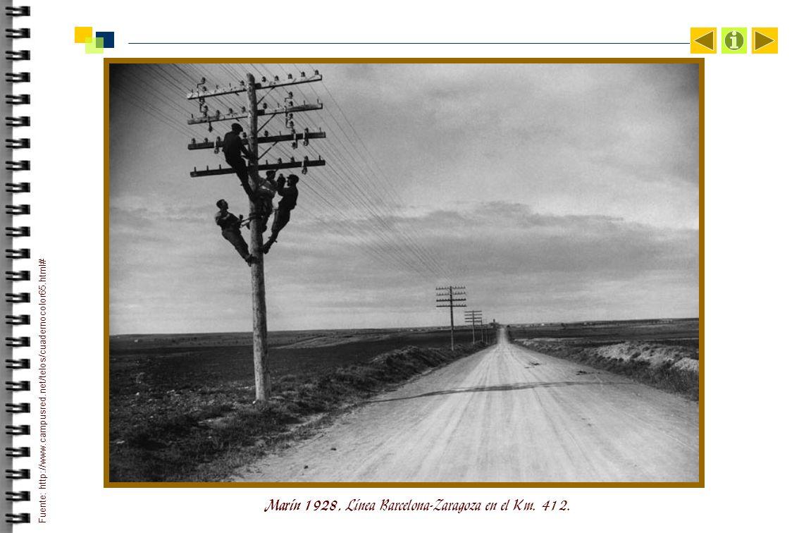 Marín 1928, Línea Barcelona-Zaragoza en el Km. 412.