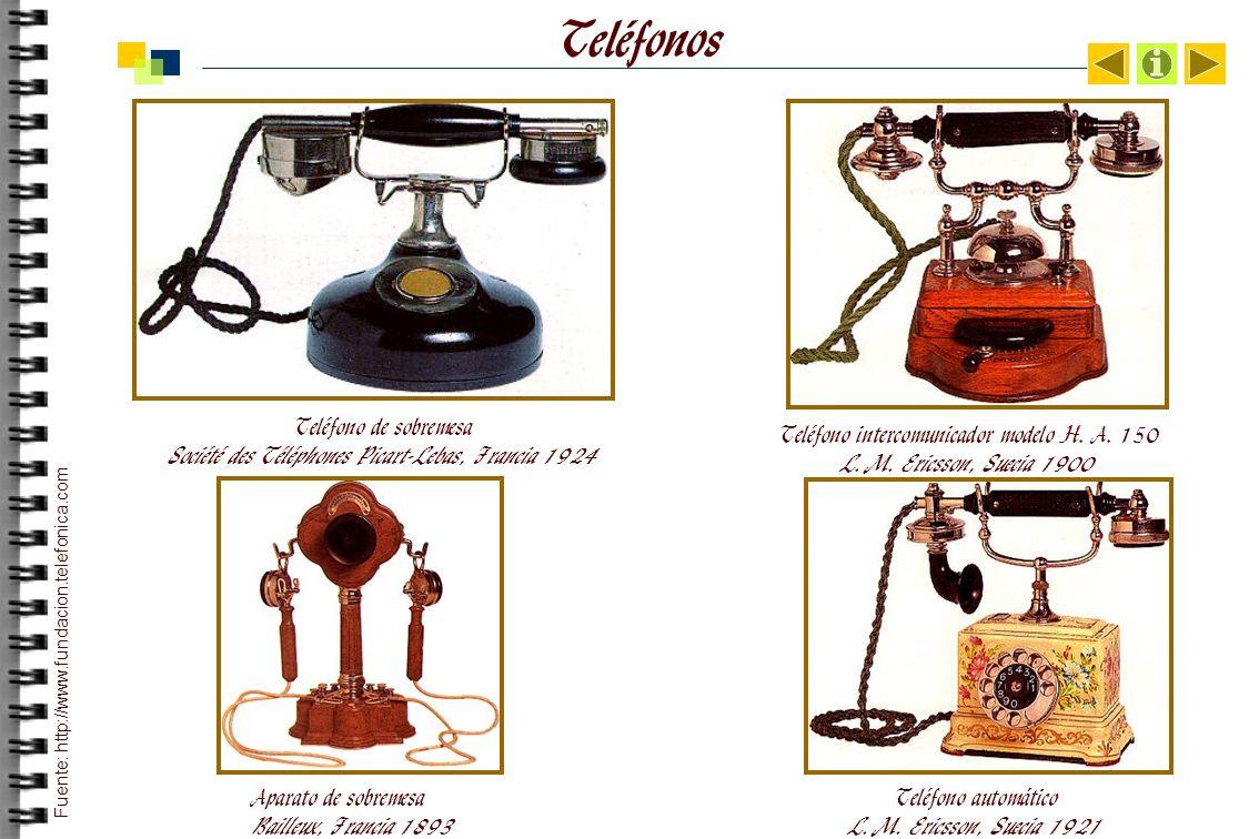 Teléfonos Teléfono de sobremesa Société des Téléphones Picart-Lebas, Francia 1924.