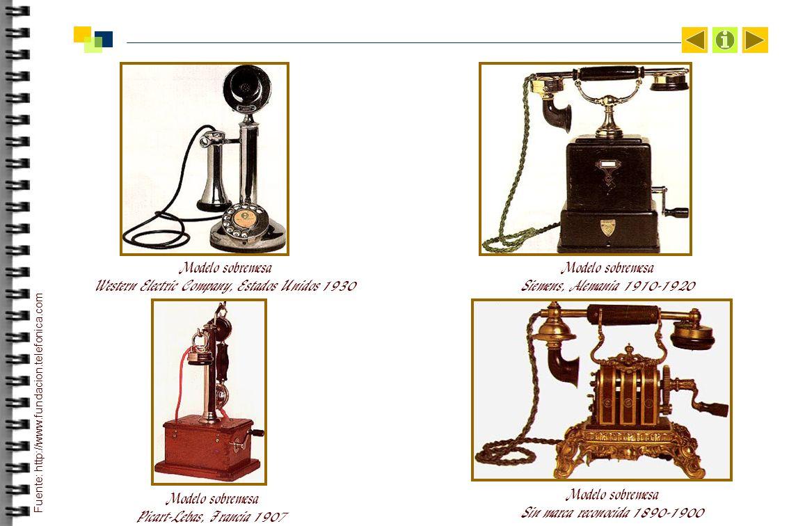 Modelo sobremesa Western Electric Company, Estados Unidos 1930