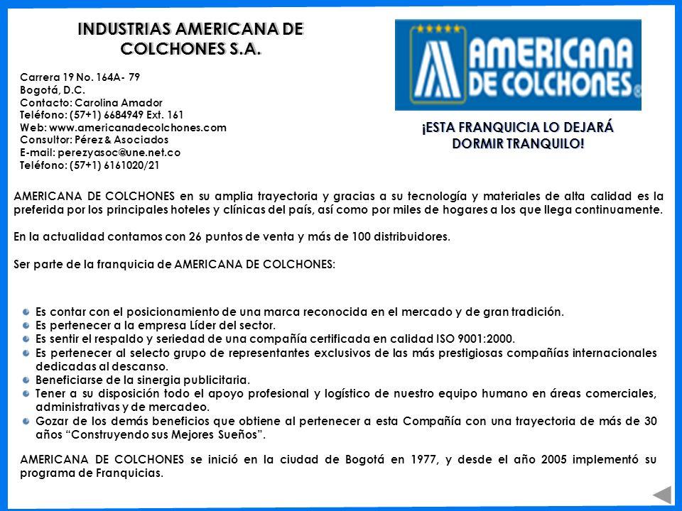 INDUSTRIAS AMERICANA DE COLCHONES S.A.