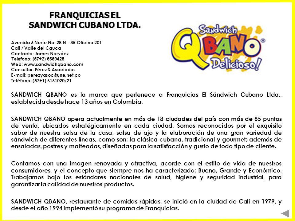 FRANQUICIAS EL SANDWICH CUBANO LTDA.