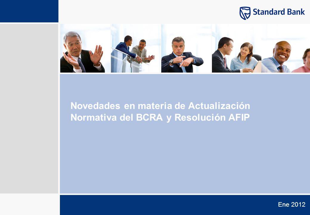 Novedades en materia de Actualización Normativa del BCRA y Resolución AFIP