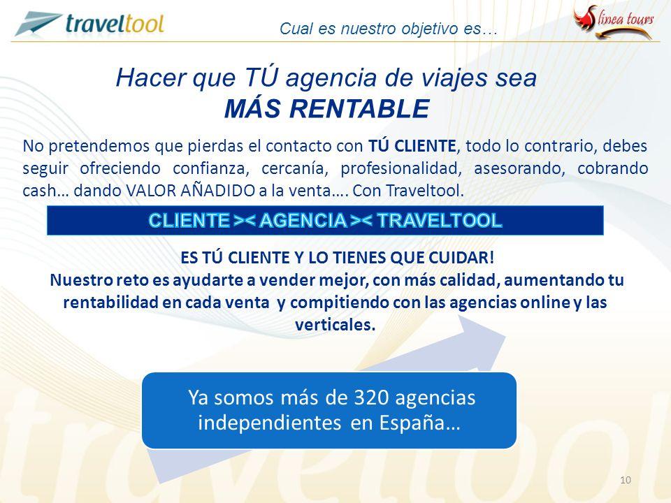 CLIENTE >< AGENCIA >< TRAVELTOOL