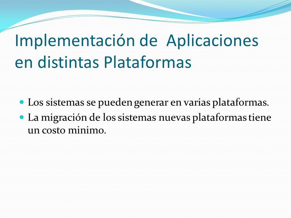 Implementación de Aplicaciones en distintas Plataformas