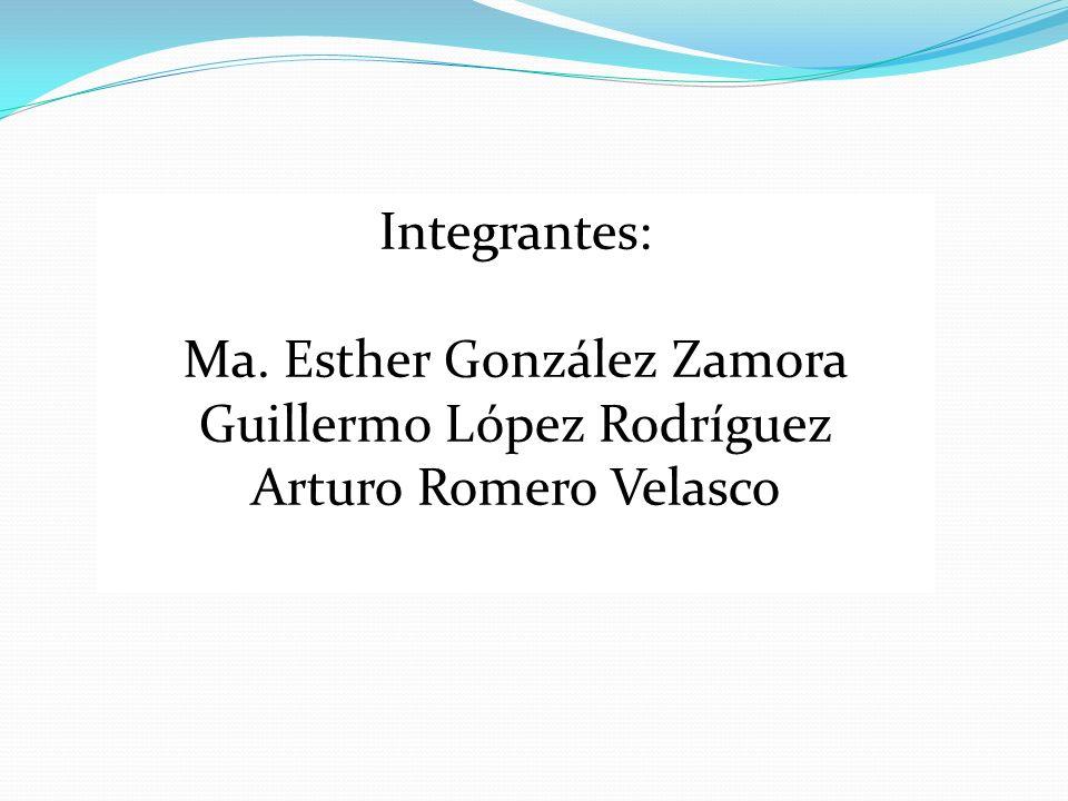 Ma. Esther González Zamora Guillermo López Rodríguez