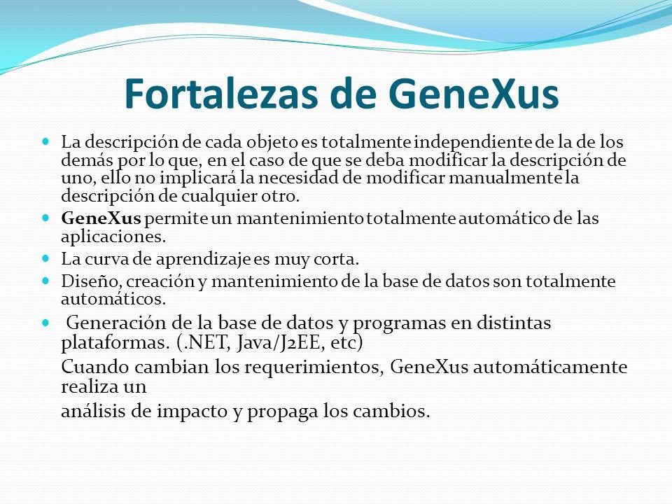 Fortalezas de GeneXus