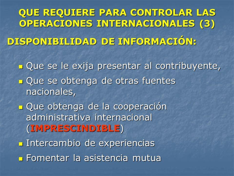 QUE REQUIERE PARA CONTROLAR LAS OPERACIONES INTERNACIONALES (3)