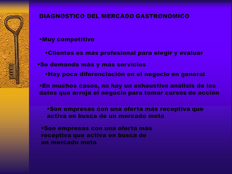 DIAGNOSTICO DEL MERCADO GASTRONOMICO