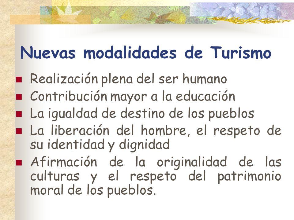 Nuevas modalidades de Turismo