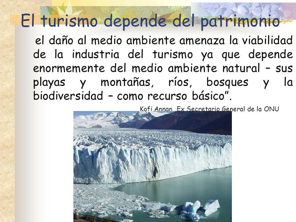 El turismo depende del patrimonio