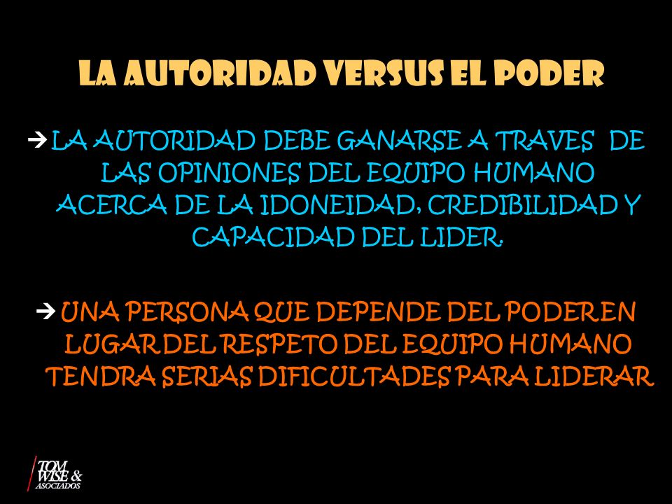 LA AUTORIDAD VERSUS EL PODER