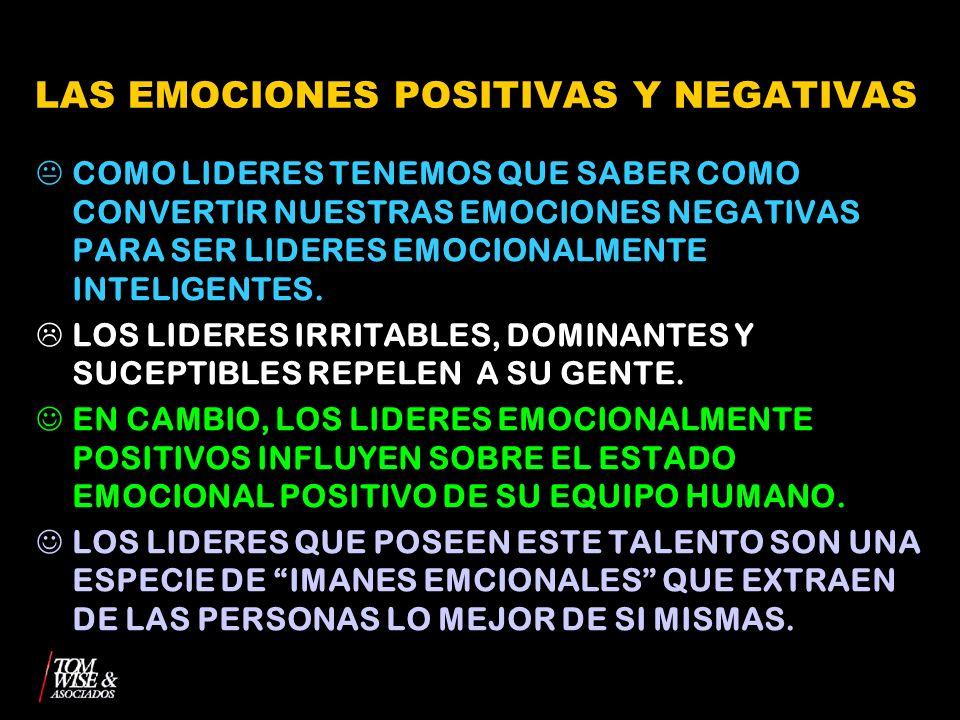 LAS EMOCIONES POSITIVAS Y NEGATIVAS