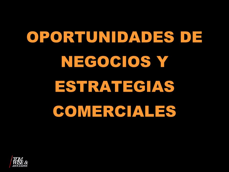OPORTUNIDADES DE NEGOCIOS Y ESTRATEGIAS COMERCIALES