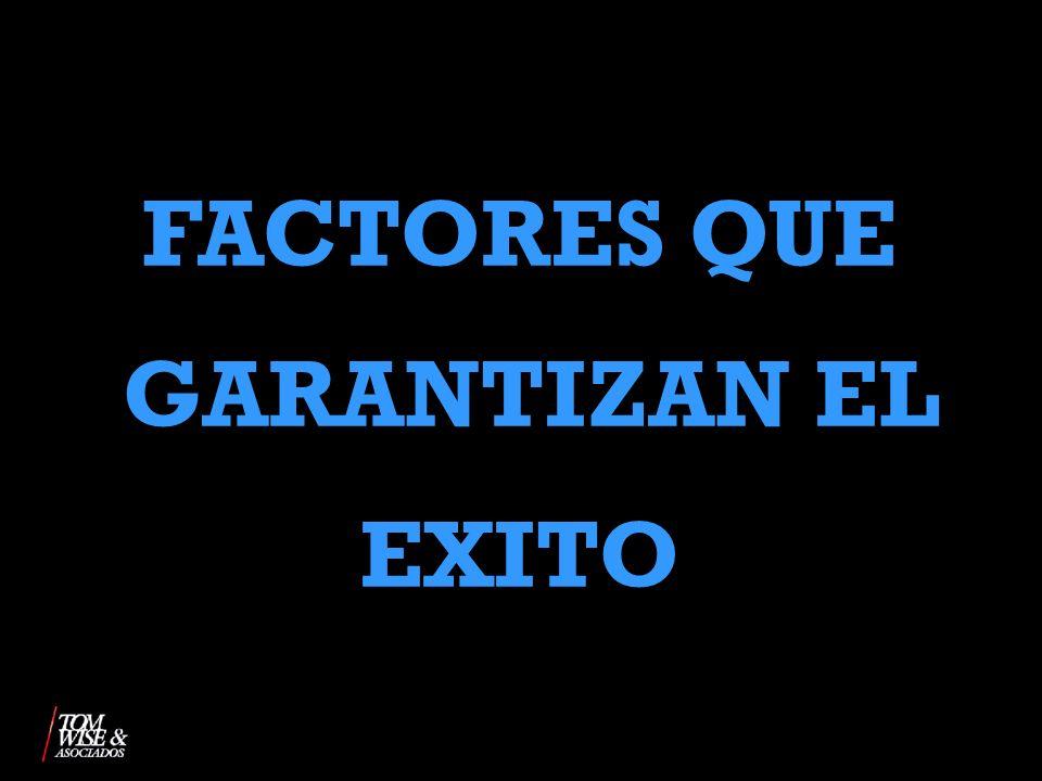 FACTORES QUE GARANTIZAN EL EXITO