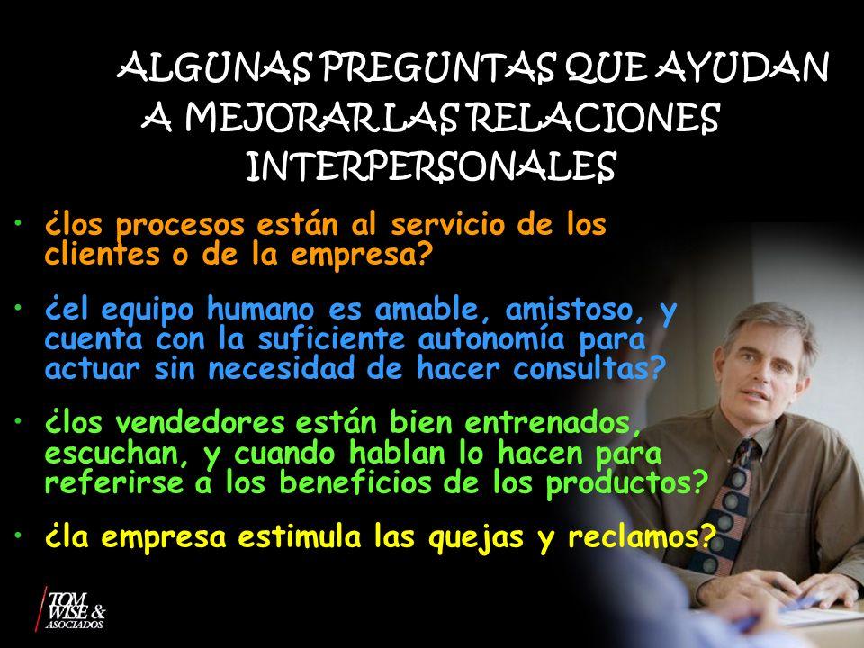 ALGUNAS PREGUNTAS QUE AYUDAN A MEJORAR LAS RELACIONES INTERPERSONALES