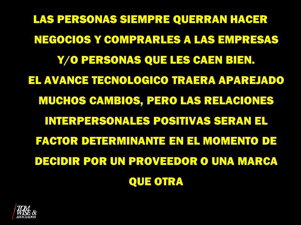 LAS PERSONAS SIEMPRE QUERRAN HACER NEGOCIOS Y COMPRARLES A LAS EMPRESAS Y/O PERSONAS QUE LES CAEN BIEN.