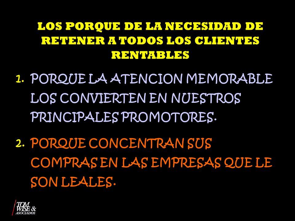 LOS PORQUE DE LA NECESIDAD DE RETENER A TODOS LOS CLIENTES RENTABLES