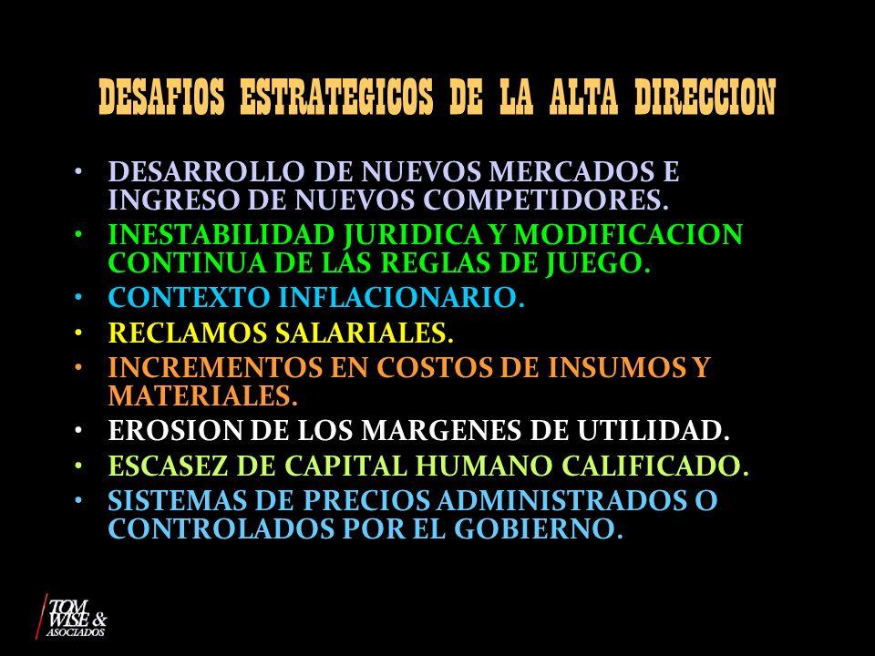 DESAFIOS ESTRATEGICOS DE LA ALTA DIRECCION