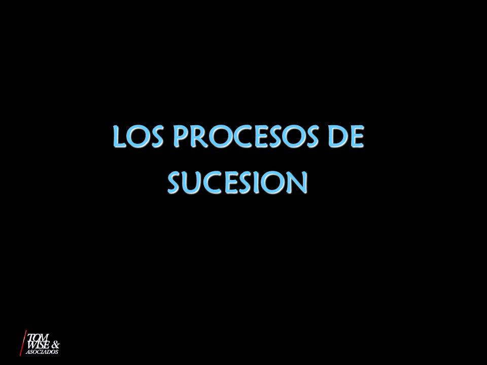 LOS PROCESOS DE SUCESION