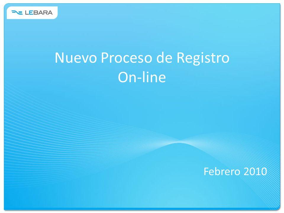 Nuevo Proceso de Registro