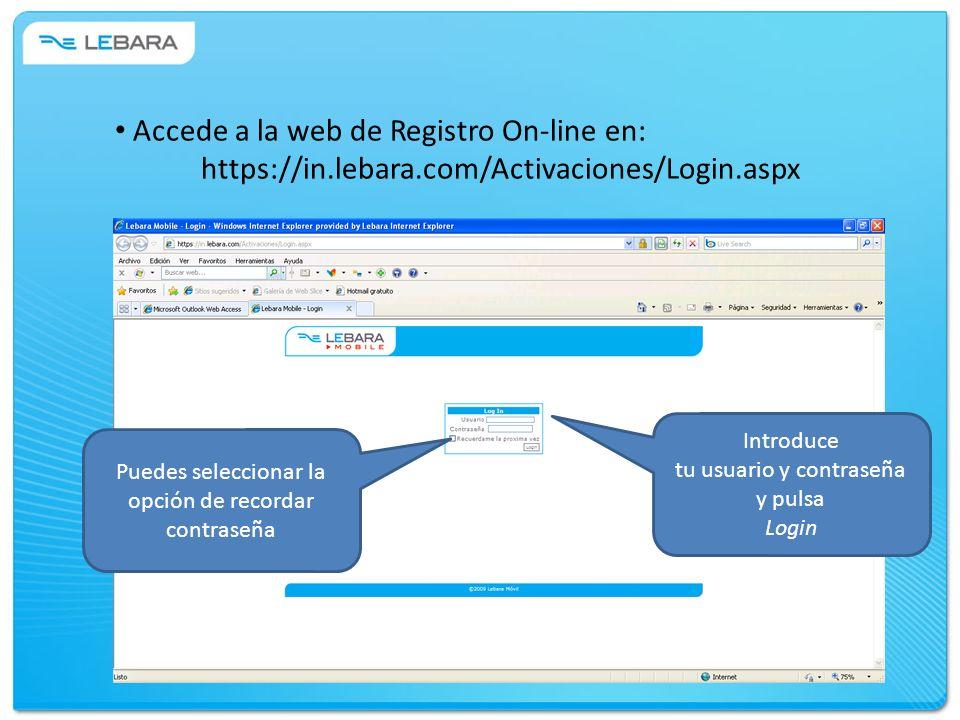 Accede a la web de Registro On-line en: