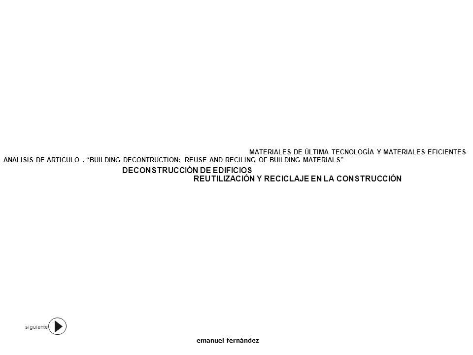 DECONSTRUCCIÓN DE EDIFICIOS