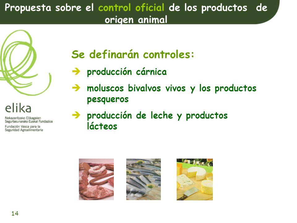 Propuesta sobre el control oficial de los productos de origen animal