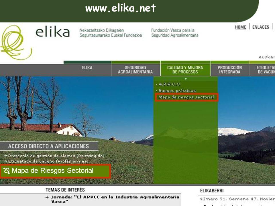 www.elika.net  Mapa de Riesgos Sectorial
