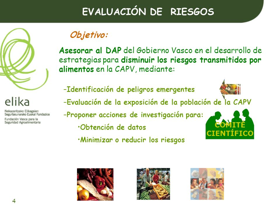 EVALUACIÓN DE RIESGOS Objetivo: