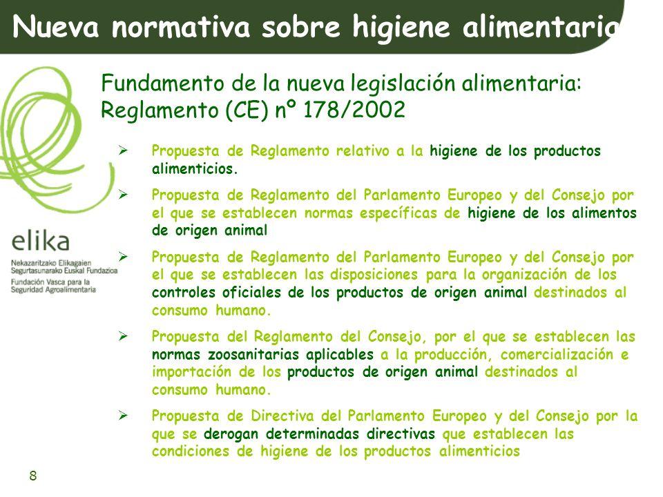 Nueva normativa sobre higiene alimentaria