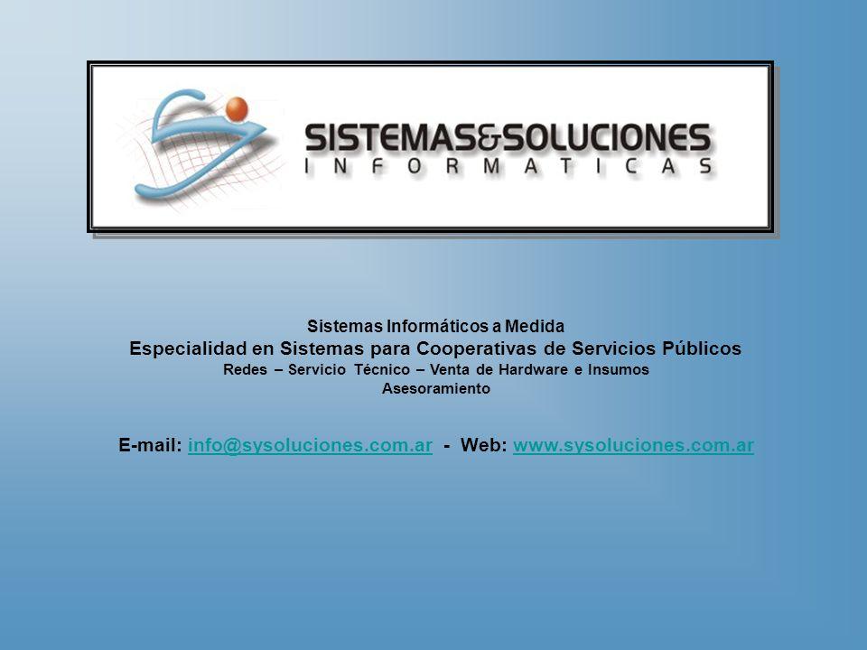 Especialidad en Sistemas para Cooperativas de Servicios Públicos