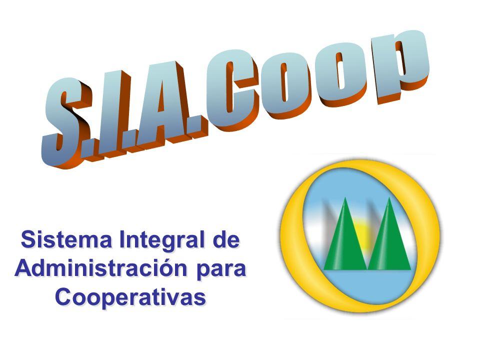 Sistema Integral de Administración para Cooperativas