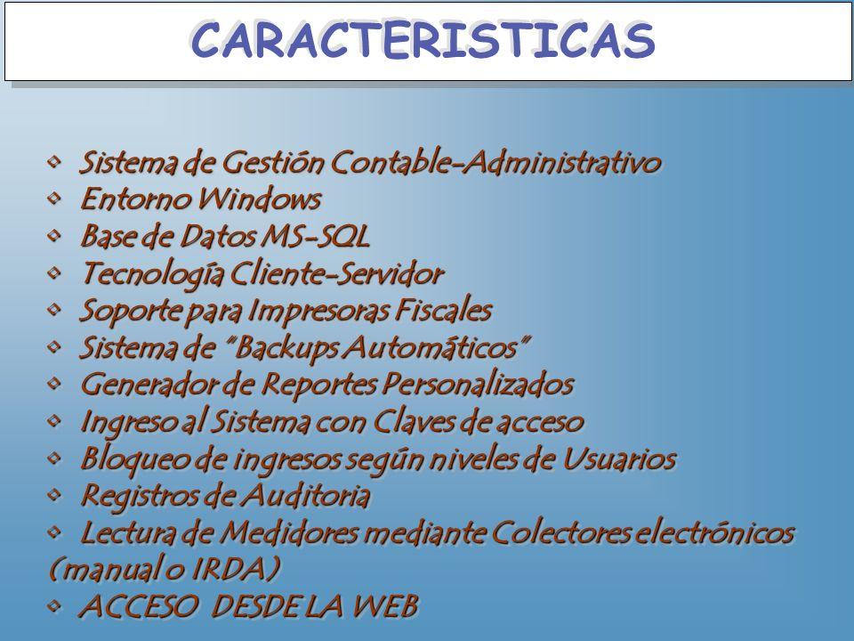 CARACTERISTICAS Sistema de Gestión Contable-Administrativo